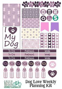 Dog / Puppy Weekly Sticker Set