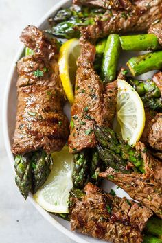 Asparagus & Steak Fajita Roll-Ups. Add a touch of gourmet to your steak dinner with these asparagus and steak fajita roll-ups full of the bold flavors of the Southwest. Grilling Recipes, Meat Recipes, Low Carb Recipes, Appetizer Recipes, Cooking Recipes, Healthy Recipes, Steak Appetizers, Thin Steak Recipes, Gourmet Appetizers