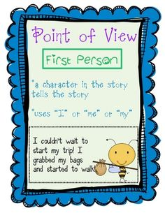 These posters will help students remember the difference in point of view between first person and third person (generic), third person limited, an...
