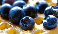 """""""Blueberry Breakfast."""" Macro shot (with syrup)"""