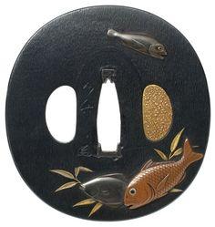 魚尽図鐔 如竹 Jochiku Tsuba - 鐔鑑賞記 by Zenzai