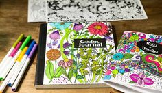 Make Your Own Coloring Page Journals via @gardenmatter