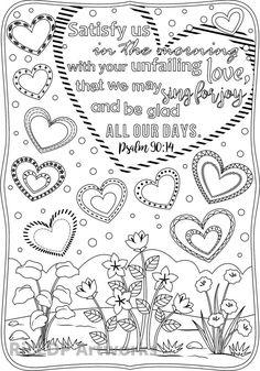 God's Love Has No Limits: printable doodle coloring pages