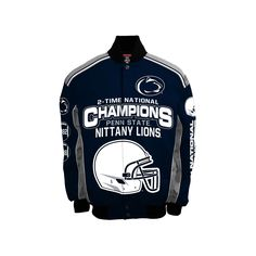 Men's Franchise Club Penn State Nittany Lions Champions Twill Jacket, Size: Medium, Blue (Navy)