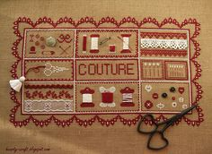 La Boite a Couture  - Des Histoires A Broder WIP 4  by Hearty craft, via Flickr