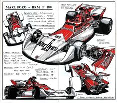 Motor--Sport™ — geokan: Illustrations by Werner Bührer. Aston Martin, Car Illustration, Technical Illustration, Technical Drawings, Formula 1 Car, Car Posters, Car Drawings, Car Sketch, Automotive Art