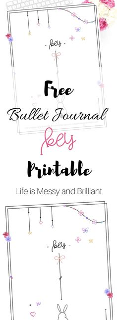 Easy Bullet Journal Ideas To Well Organize & Accelerate Your Ambitious Goals Key Bullet Journal, Bullet Journal Tracker, Bullet Journal Printables, Bullet Journal Layout, Bullet Journal Inspiration, Journal Ideas, Bullet Journals, Printable Planner, Planner Stickers