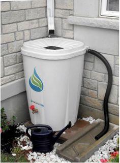 55 Gal. Rain Water Barrel Storage Collection w/Brass-Spigot,Ext. Hose,Screen NEW