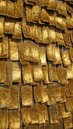 View this item and discover similar for sale at - Astonishing abstract tapestry titled 'Alquimia XXV' by internationally known Colombian textile artist Olga De Amaral. Hand crafted from Gold-leaf and gesso Or Noir, Gold Aesthetic, Textiles, Shades Of Gold, Colour Board, Textile Artists, Gold Leaf, Textures Patterns, Three Dimensional