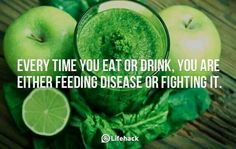 Food is either fighting disease or feeding it