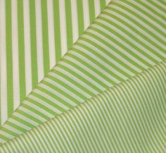 "Pima+Cotton+Stripe+60""+Fabric,+Lime/White+3+Widths+"