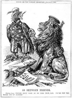 """""""As Between Friends."""" Cartoon by Bernard Partridge. Published in Punch January 6th 1915"""