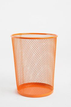 Wire Trashcan  #UrbanOutfitters  I'm getting ready to embroider one of these with yarn for my office!