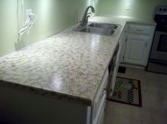 Faux Granite Painted Counters, With Craft Paint! | Hometalk