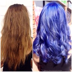 Beautiful long hair made into her favorite color! The perfect Periwinkle! By Kristin using Arctic Fox haircolor!! #salonheadcandy #purplehair