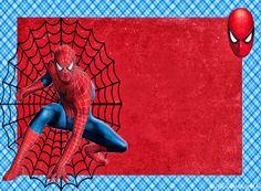 Spiderman: Free Printable Invitations, Cards or Photo Frames. Spiderman Birthday Invitations, Superhero Birthday Party, Birthday Party Invitations, Superhero Invitations, Spider Man Party, Free Printable Invitations, Diy Invitations, Free Printables, Birthday Tarpaulin Design