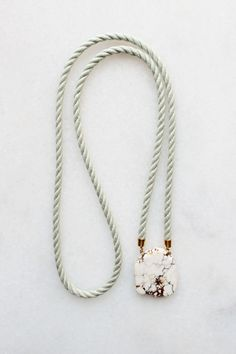 magnesite and rope necklace