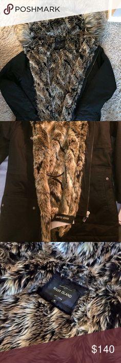 River Island Fur Parka Men Size Medium, brand new w tags. River Island Jackets & Coats