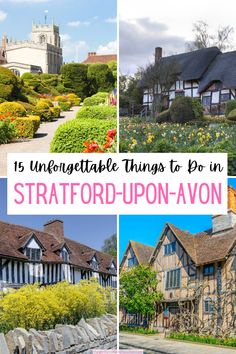Planning what things to do in Stratford-Upon-Avon, England? Use this guide to fill your itinerary with famous Shakespeare houses, theater, activities by town's pretty riverfront, and more. Plus, get tips about how to get from London to Stratford-Upon-Avon, restaurants with a view, and where to stay. #UK #England #travel Scotland Travel Guide, Europe Travel Tips, Ireland Travel, Travel Guides, Travel Destinations, European Vacation, European Travel, Things To Do In London, London Travel