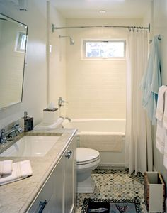 Like This Bathroom Layout Especially The Window With Canned Light Above Bath Shower And Curved Curtain Rod Can Reverse Lav Toilet If