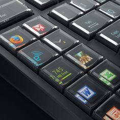 Now this is EXTREMELY cool.  A computer keyboard with customizable LCD displays in each key!