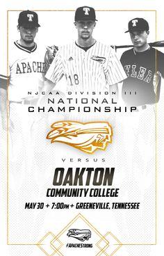 Baseball social media graphics for Tyler Junior College; Junior College, Social Media Graphics, Division, Tennessee, Graphic Design, Baseball, Baseball Promposals