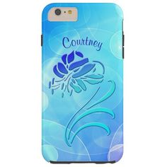 Blue Floral Abstract Bokeh Design iPhone 6 Case
