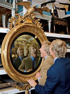 I inherited my butlers mirror from my grandmother.  I treasure with fond memories of my childhood. A truly cool piece!