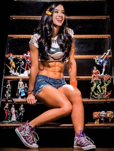 Happy Birthday to AJ and the most glorious Sixpack in WWE History ! Ufc, Wwe Female Wrestlers, Wwe Girls, Wrestling Divas, Wrestling Superstars, Wwe Womens, Thing 1, Professional Wrestling, Gorgeous Women