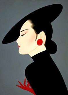 ehdu - Ichiro Tsuruta/ 3. Japanese painter. Галерея женских портретов.
