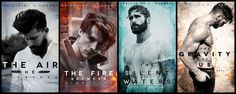 Brittainy C Cherry's 4 books from her Element series, Love them!!