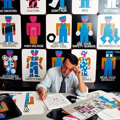 'a logo can be visual poetry' - designboom recently caught up lance wyman to discuss his specialist subjects, wayfinding and branding. Identity Design, Visual Identity, Logo Design, Corporate Identity, Lance Wyman, Mexico 68, Jaguar, Urban Icon, Safety Posters