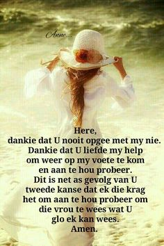 Here, dankie dat U nooit opgee met my nie. Scripture Verses, Bible, Inspirational Qoutes, Afrikaans Quotes, True Quotes, Prayers, Faith, Words, Blessings