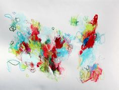 Intuitive Original Abstract Painting Mixed by kerriblackmanfineart, $75.00