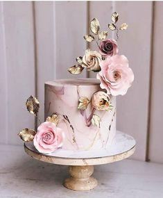 Simple Romantic Wedding Cakes simple romantic wedding cakes pink wedding cake w… – Beautiful Wedding Cake Designs Special Birthday Cakes, Elegant Birthday Cakes, Cute Birthday Cakes, Beautiful Birthday Cakes, Beautiful Wedding Cakes, Beautiful Cakes, Amazing Cakes, Birthday Cake With Roses, Brithday Cake