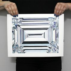 "Emerald Cut Diamond  Limited edition signed and numbered inkjet print on archival watercolor  paper. Size includes 2"" white border. Ships within 1 week.  Size 12"" x 16"" edition of 50 Comes with certificate of authenticity."