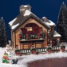 "Department 56: Products - ""Christmas Lake Chalet"" - View Lighted Buildings"