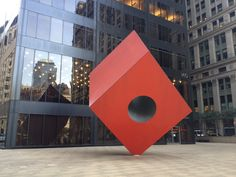 This piece:  Red Cube by Isamu Noguchi (New York)    see 9 Awesome Abstract Sculptures that Are Way Bigger than You