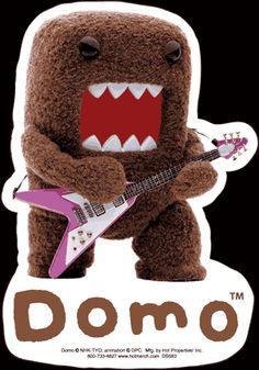 Crunchyroll - Store - Domo Kun - Die Cut Vinyl Stickers (Rock Star)