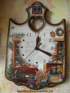 """Часы """"Мой сад"""" - часы,часы настенные,прованс,прованский стиль,Декупаж"""