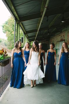 #Bridesmaids #Allure Bridal | See the wedding on SMP -  http://www.StyleMePretty.com/2014/01/10/the-cotton-room-wedding/ Julia Wade Photography