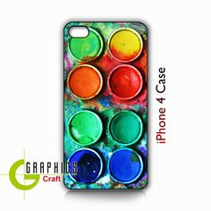 iPhone 4/4s Case Watercolor Paint Box  Phone by GraphicsCraft, $14.99