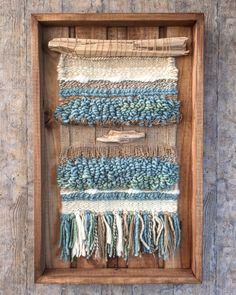 Items similar to Woven wall hanging on Etsy Weaving Wall Hanging, Weaving Art, Loom Weaving, Tapestry Weaving, Wall Tapestry, Wall Hangings, Weaving Projects, Macrame Projects, Creative Textiles