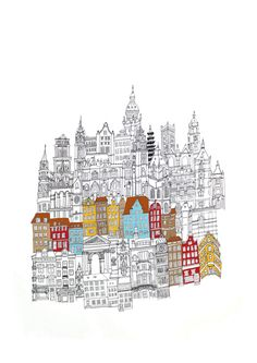 This is a combination of all the cities architecture that I have travelled. The colour scheme represents Copenhagen