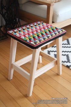 Vanity Bench, Stool, Knitting, Crochet, Blog, Furniture, Home Decor, Balcony, Tejidos