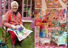 Kaffe Fassett'Needlepoint Haven' Designer: Kaffe Fassett, Kaffe Fasset Studio   London-based American artist Kaffe Fassett is best known for his textiles, needlepoint, and quilts. His garden shed offers spools of thread, skeins of yarn, and bolts of cloth for creative hands to weave while being inspired by the gardens outdoors.