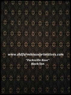 Primitive Black/Tan Packsville Rose – Old Farmhouse Primitives