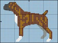 Some of the things we like about the Active Boxer Pup Counted Cross Stitch Patterns, Cross Stitch Charts, Cross Stitch Embroidery, Embroidery Patterns, Pony Bead Patterns, Loom Patterns, Crochet Blanket Patterns, Brindle Boxer, Boxer Dogs