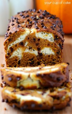 Pumpkin Chocolate Chip Cream Cheese Bread!