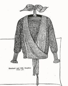 1920s flapper sweater knitting pattern PDF - Shetland and Silk Surplice